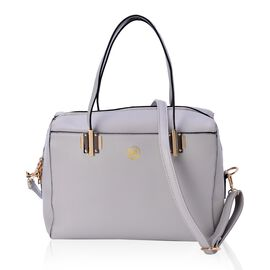 YUAN COLLECTION Grey Colour Tote Bag with Adjustable and Removable Shoulder Strap (Size 31x29x13 Cm)