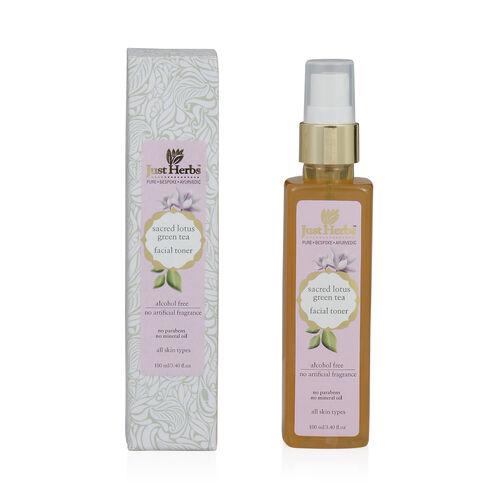 (Option 1) Just Herbs Sacred Lotus-Green Tea Skin Recovery Tone (100 ml) (All Skin Types)