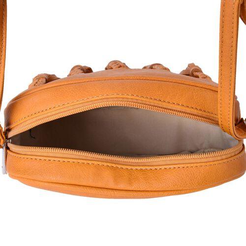 Sienna Hand Braided Tassel Cross body Bag (Size 20x16x6.5 Cm)