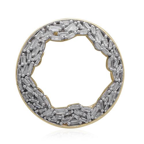 9K Yellow Gold Fire Cracker SGL Certified Diamond (Bgt) (I3/G-H) Circle Pendant 0.500 Ct. Gold Wt 3.00 Gms