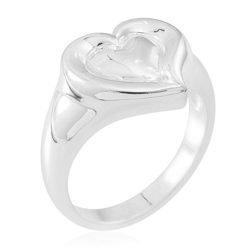 Thai Sterling Silver Heart Ring, Silver wt 6.00 Gms.