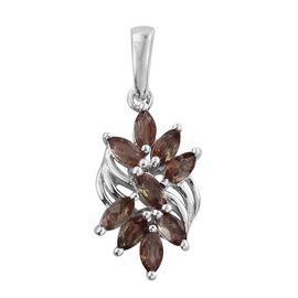 Brazilian Andalusite (Mrq) Pendant in Platinum Overlay Sterling Silver 1.250 Ct.