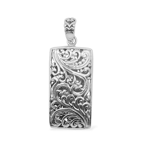 Royal Bali Collection Sterling Silver Filigree Pendant, Silver wt 4.25 Gms.