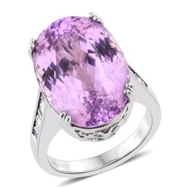 RHAPSODY 950 Platinum 22.75 Ct AAAA Kunzite, Diamond (VS/E-F) Ring