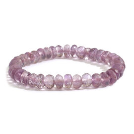 Rose De France Amethyst (Rnd) Stretchable Beads Bracelet (Size 7) 80.000 Ct.