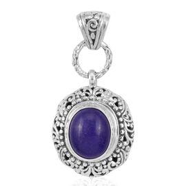 Purple Jade (Ovl) Pendant in Sterling Silver 6.125 Ct. Silver wt 5.14 Gms.