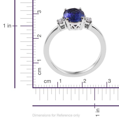 RHAPSODY 950 Platinum 2 Carat AAAA Tanzanite Ring with Diamond VS E-F