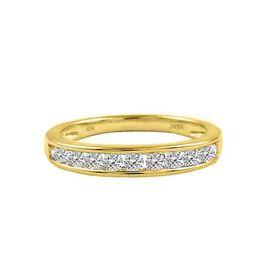 BRILLIANT CUT 9K Y Gold Diamond (Rnd) (I3/G-H) Half Eternity Ring 0.500 Ct.