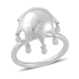 LucyQ Umbrella Ring in Rhodium Plated Sterling Silver 4.81 Gms.