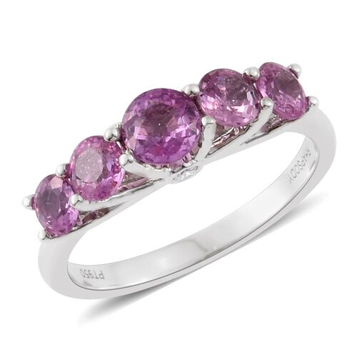 RHAPSODY 950 Platinum AAAA Pink Sapphire (Rnd), Diamond (VS/E-F) Ring 2.000 Ct.