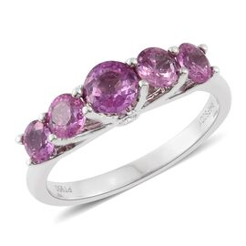 RHAPSODY 950 Platinum AAAA Pink Sapphire (Rnd), Diamond (VS/E-F) Ring 2.000 Ct.