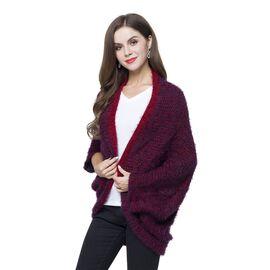 New Season - Italian Designer Inspired Red and Navy Colour Kimono (Size 108x48 Cm)