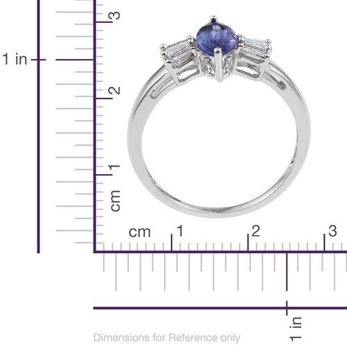 9K W Gold Tanzanite (Mrq 1.00 Ct), Diamond Ring 1.150 Ct.