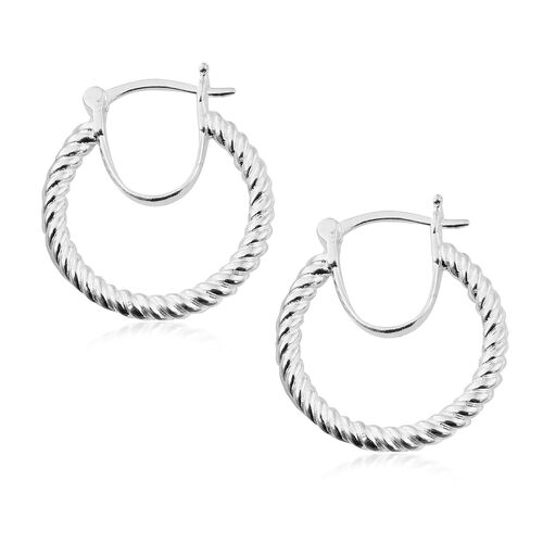 Sterling Silver Hoop Earrings (with Clasp Lock), Silver wt 6.27 Gms.