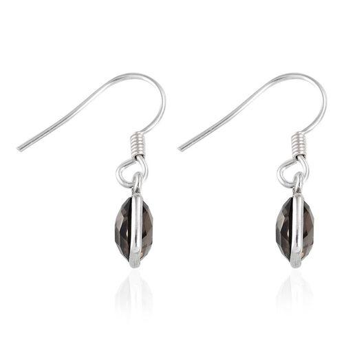 Brazilian Smoky Quartz (Cush) Hook Earrings in Sterling Silver 4.670 Ct.