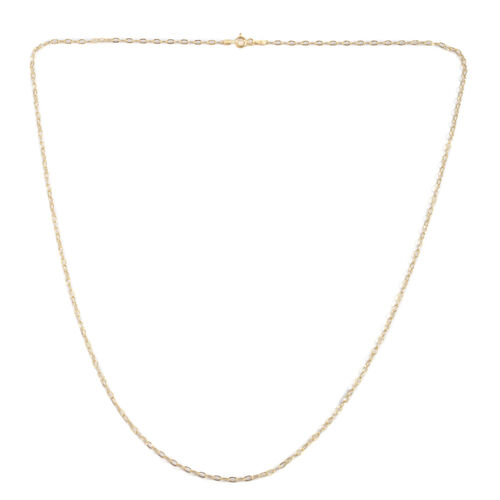JCK Vegas Collection 14K Gold Overlay Sterling Silver Mariner Chain (Size 24)