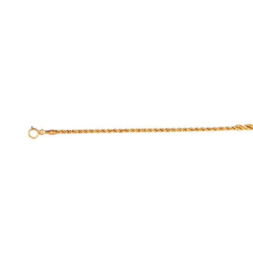 Vicenza Collection 9K Y Gold Rope Bracelet (Size 7.5)