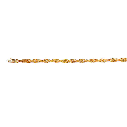 Vicenza Collection 9K Y Gold Singapore Chain (Size 22), Gold wt 4.54 Gms.