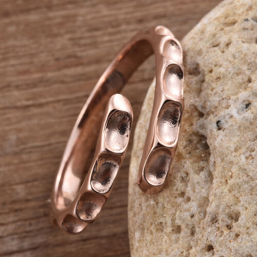 Silver Stacker Ring in Rose Overlay, Silver wt 1.78 Gms