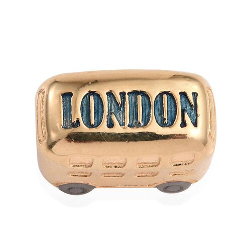 14K Gold Overlay Sterling Silver Bus Charm, Silver wt 6.00 Gms.