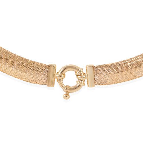 Limited Edition - New York Designer Inspired 9K Y Gold Omega Mesh Necklace (Size 20), Gold wt 11.00 Gms.