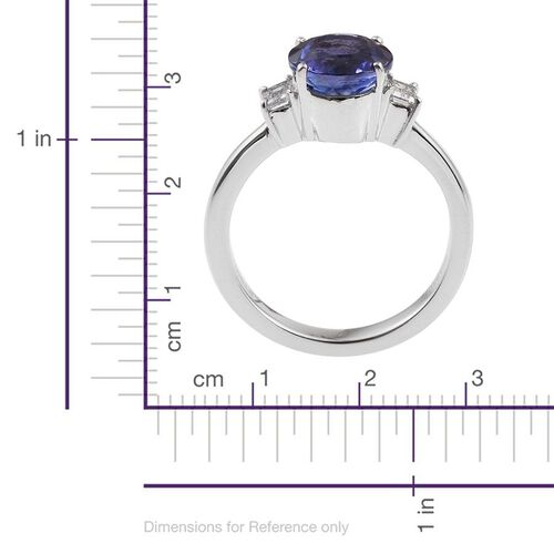 RHAPSODY 950 Platinum 2.75 Carat AAAA Tanzanite Round, Diamond VS E-F Ring.