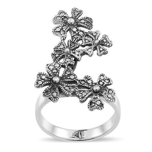 Sterling Silver Floral Ring, Silver wt 6.00 Gms.