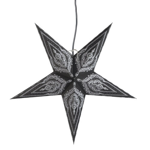 Home Decor - Black and White Colour Handmade Star with Electric Cable (Size 60 Cm)