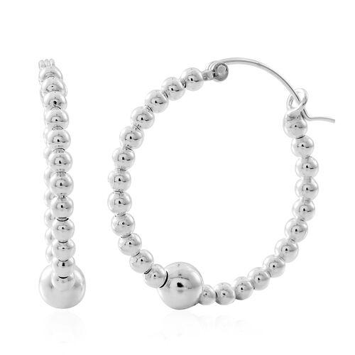 Sterling Silver Hoop Earrings (with Clasp Lock), Silver wt. 5.13 Gms.