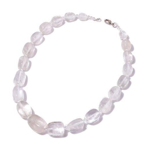 White Quartz Necklace (Size 20) in Silver Tone 650.000 Ct.