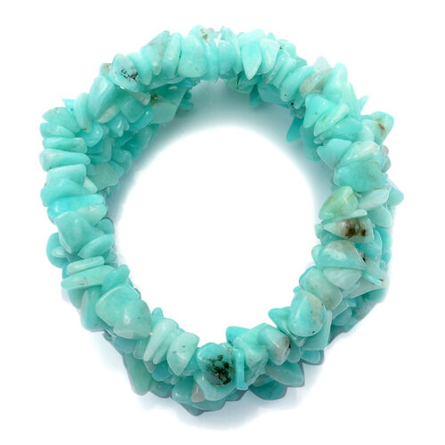 Amazonite Stretchable Bracelet 350.00 Ct.