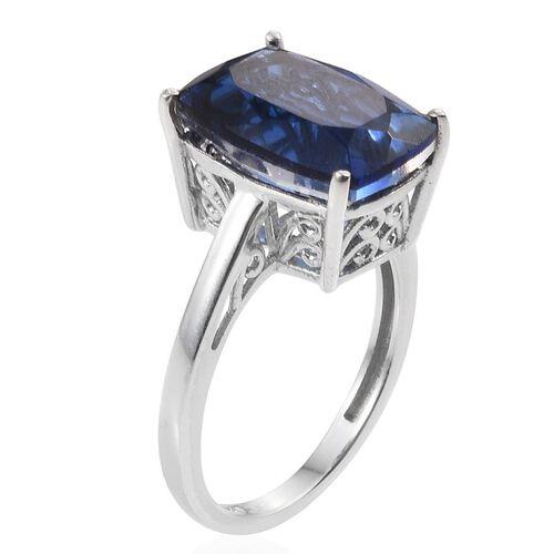 Ceylon Colour Quartz (Cush) Solitaire Ring in Platinum Overlay Sterling Silver 7.000 Ct.