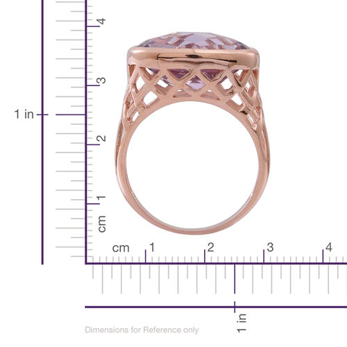 Rose De France Amethyst (Ovl) Solitaire Ring in 14K Rose Gold Overlay  Sterling Silver 7.500 Ct.