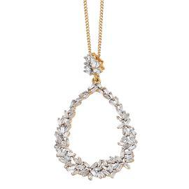GP Diamond (Bgt), Kanchanaburi Blue Sapphire Pendant with Chain (Size 20) in 14K Gold Overlay Sterling Silver 0.510 Ct.