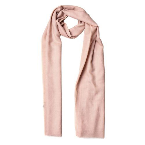 Super Soft-100% Wool Camel Colour Scarf with Fringes (Size 190X70 Cm)