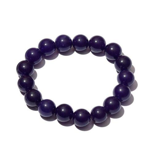 Purple Quartzite Stretchable Ball Beads Bracelet (Size 7.5) 190.000 Ct.