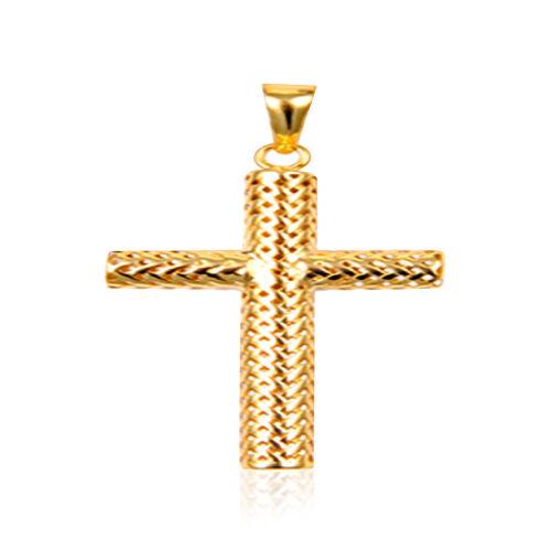 Designer Inspired Italian 9K Y Gold Cross Pendant