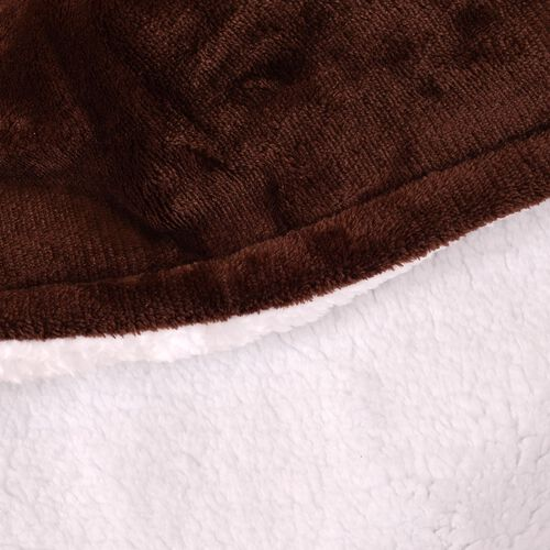 Luxury Edition - Supersoft Sherpa Chocolate Colour Electric 6 Heating Settings Silky Flannel Blanket (Size 160X120 Cm)