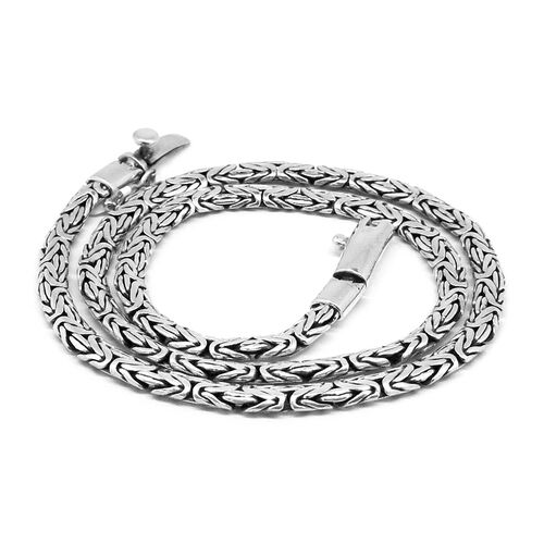 Royal Bali Collection Sterling Silver Hand Made Borobudur Necklace (Size 20), Silver wt 52.76 Gms.