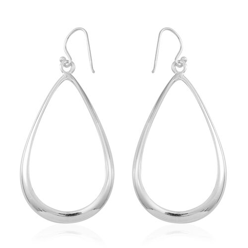 JCK Vegas Collection- Designer Inspired Sterling Silver Drop Hook Earrings, Silver wt 14.00 Gms.