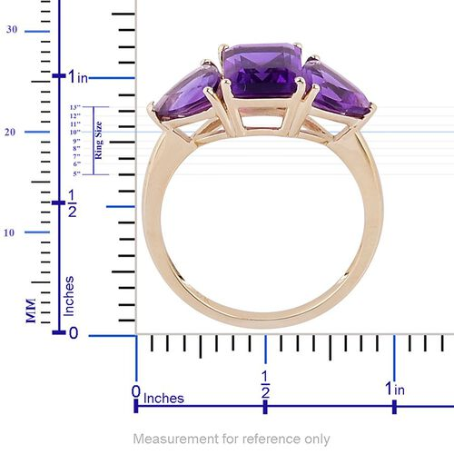 9K Y Gold AAA Lusaka Amethyst (Oct 2.25 Ct) Ring 4.250 Ct.