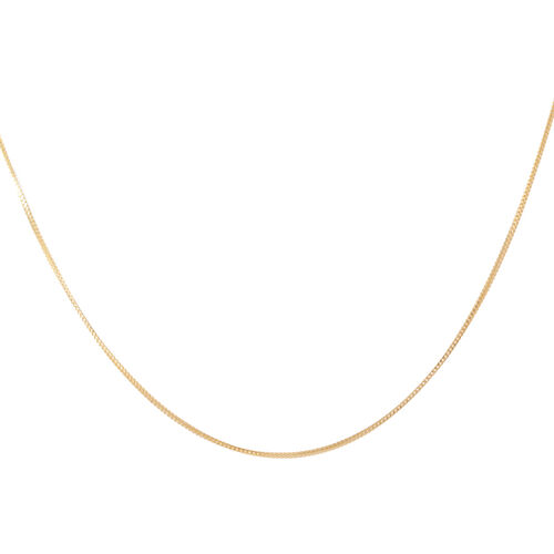 14K Gold Overlay Sterling Silver Adjustable Franco Chain (Size 24), Silver wt 3.60 Gms.