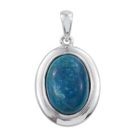Natural Rare Opalina (Ovl) Solitaire Pendant in Platinum Overlay Sterling Silver 4.500 Ct.