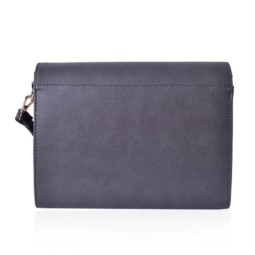 Marylebone Classic Deep Grey Colour Crossbody Bag with Adjustable and Removable Size (Size 27x20x9 Cm)