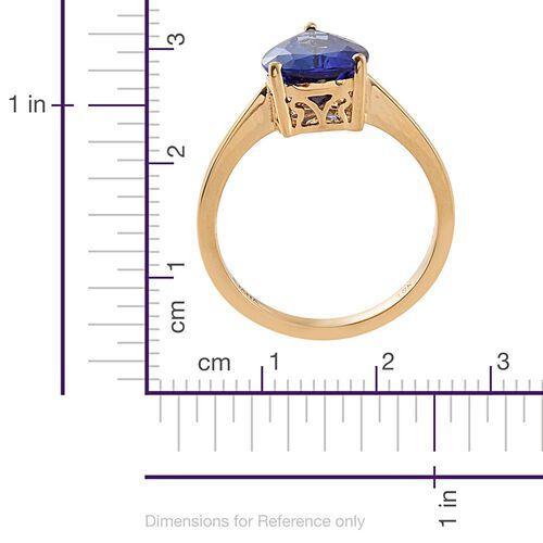 ILIANA 3.50 Ct AAA Tanzanite Solitaire Ring in 18K Gold