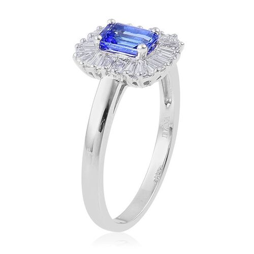 ILIANA 18K W Gold AAA Tanzanite (Oct 1.05 Ct), Diamond Ring 1.750 Ct.
