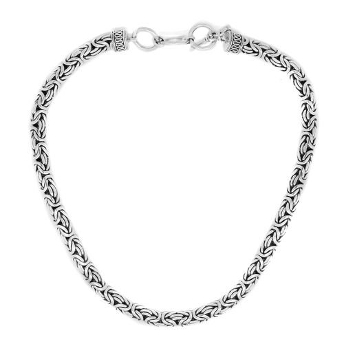 Royal Bali Collection Sterling Silver Borobudur Necklace (Size 19 with 1 inch Extender), Silver wt. 126.60 Gms.