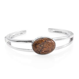 Limited Available - Rare Natural Honey Jasper (Ovl 25X18 mm) Bangle (Size 7.5) 22.000 Ct.