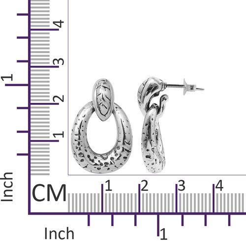Designer Inspired - Sterling Silver Earrings, Silver wt 5.10 Gms.