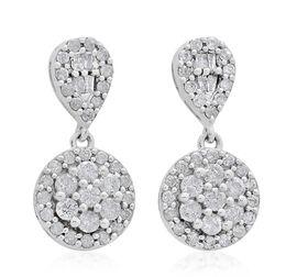 9K White Gold SGL Certified Diamond (Rnd) (I3 G-H) Earrings 1.000 Ct.